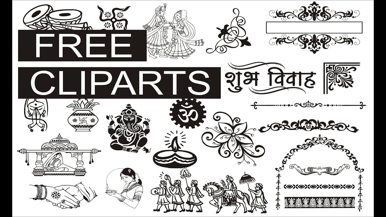 File 11 Free Wedding Cliparts Mini Package Coreldraw Cdr File Youtube