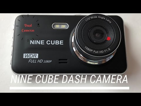 Nine Cube Car Dash Camera 1080p 30FPS, Dual Cameras, Front And Rear