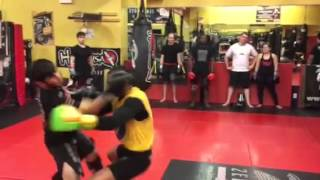 Pro MMA sparring