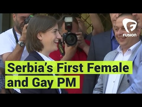 First Female And Gay PM Of Serbia