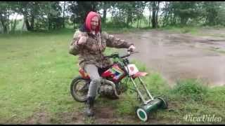 Homemade Dirtbike Mower it is nice