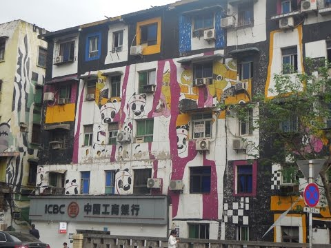 Visit Brilliant and Cutting Edge Graffitti Street Chongqing, China