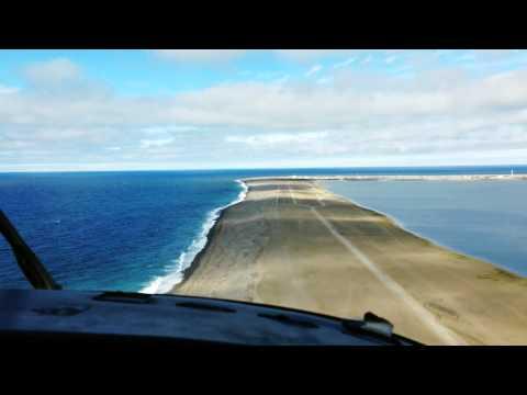 B1900C Cockpit POV Landing in Alaska