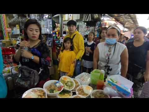 Bangkok day market in Sampeng market in the middle of Bangkok, Thailand