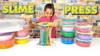 Rengarenk slime Colorful slime pressing (FULL SLIME PRESSING), Fun Kid Vİdeo