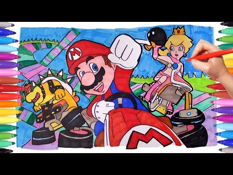 - Super Mario Coloring Pages For Kids How To Draw Super Mario Luigi And  Yoshi Learning Video - YouTube