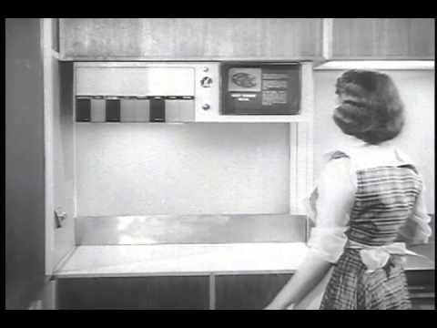 The Future Kitchen in the 1950s - YouTube on 50's robot, 50's modern, 50's space, 50's cars, 50's architecture, 50's design, 50's horror, 50's computer, 50's shopping, 50's sports, 50's illustration, 50's graphic, 50's flowers, 50's holiday, 50's family, 50's anime, 50's dance, 50's cartoon, 50's alien, 50's war,