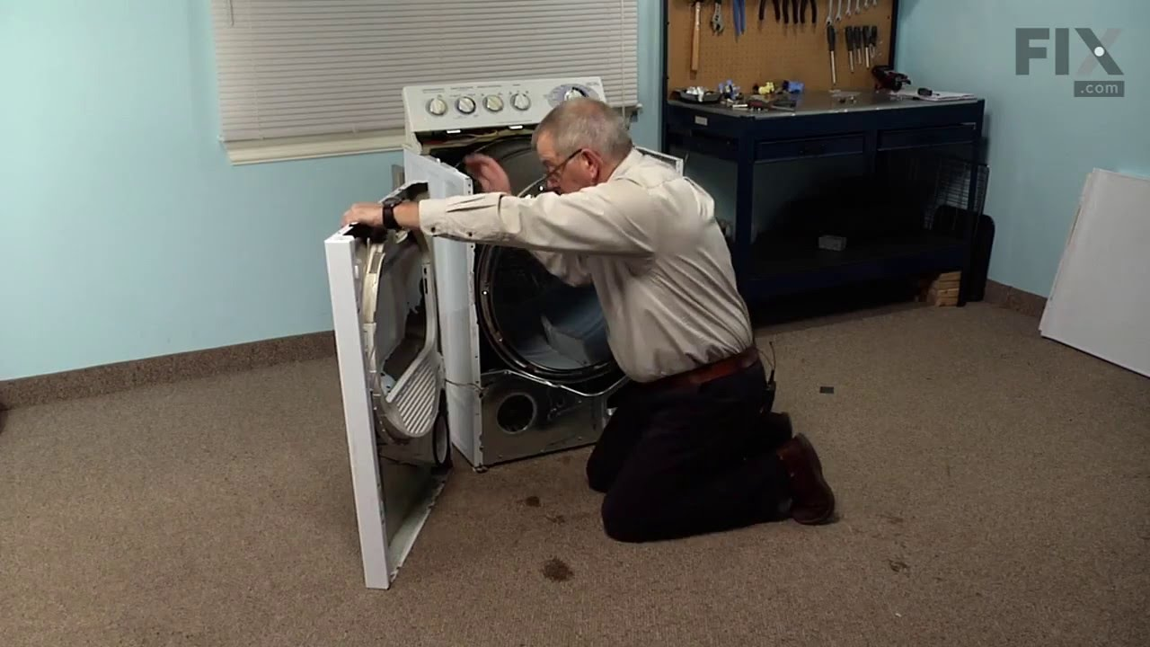 GE Dryer Repair – How to replace the Safety Thermostat - YouTube on