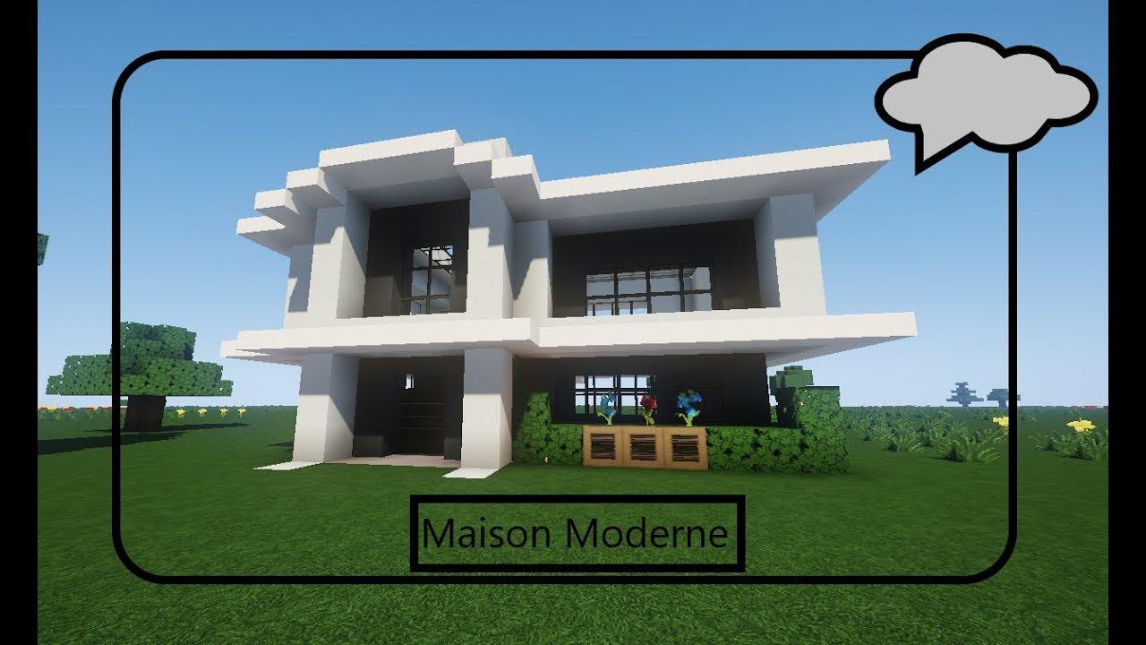 Maison Moderne Minecraft Tuto Youtube