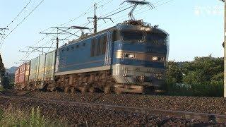 信越本線を疾走する EF510貨物列車, E129系,E653系,115系湘南色      2017.9.29      HDV 1428