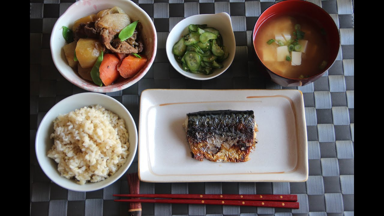Japanese dinner menu 1 japanese cooking 101 youtube forumfinder Choice Image