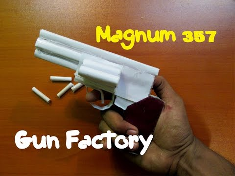 How to Make a Paper  Magnum 357 Revolver -...