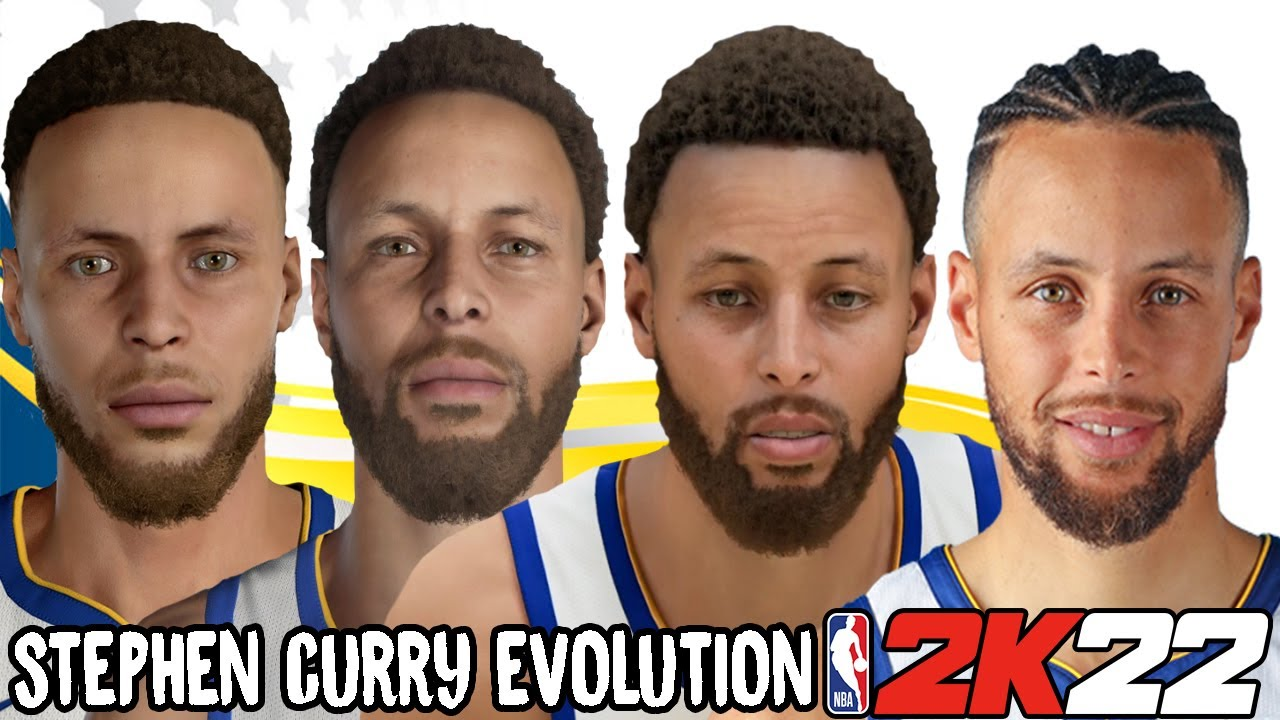 Stephen Curry Ratings and Face Evolution (College Hoops 2K7 - NBA 2K22)