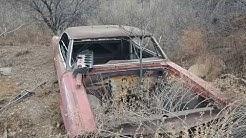 Exploring abandoned cars near mining town of Miami Arizona