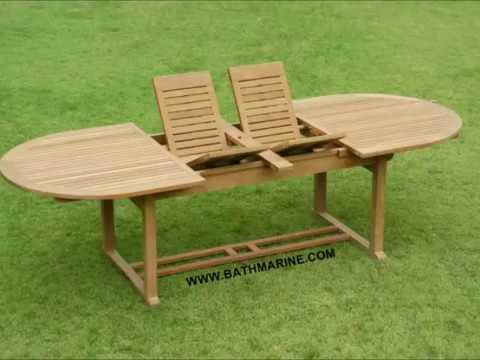 Bathmarine es muebles jardin teca teka mesas montadas for Mesas de terraza y jardin baratas