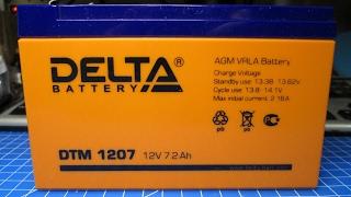 видео DELTA DT 1207 - аккумулятор 12 В 7 Ач
