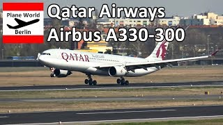 Qatar Airways Airbus A330-300 landing in Berlin TXL 2017