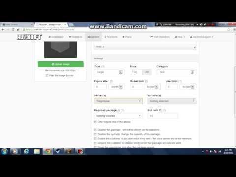 Buycraft Package Tutorial - YT