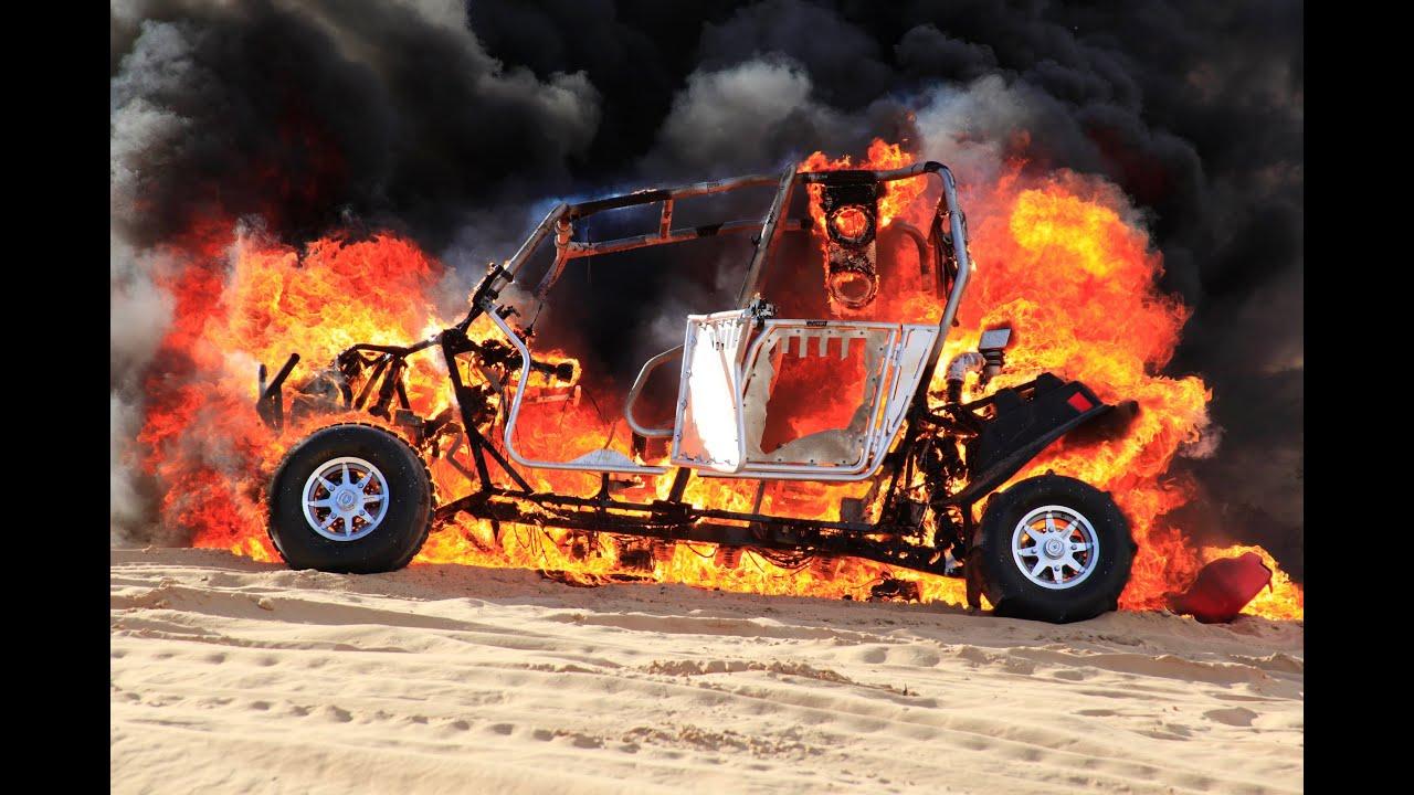 Polaris Rzr 4 Catches Fire In Glamis Sand Dunes Youtube
