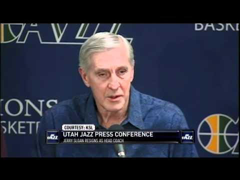 Jazz Head Coach Jerry Sloan Announces Resignation After Disagreement with Deron Williams