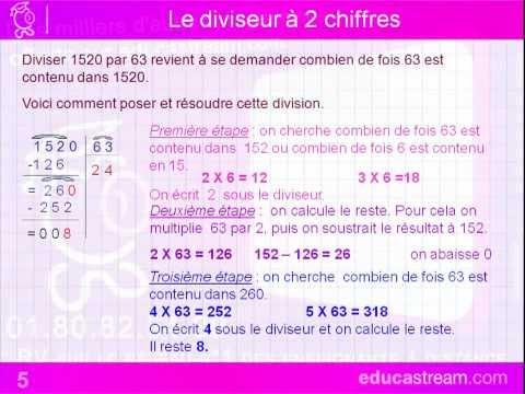 division euclidienne cours maths CM1
