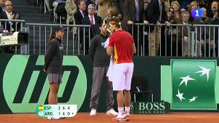 Rafael Nadal vs Juan Martín del Potro TIE BREAK 4TH SET - Davis Cup Final