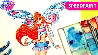 Winx club drawing how to draw Bloom believix - Speedpainting