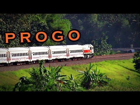 Kereta Api Progo menari indah di Jalur Kalimenur
