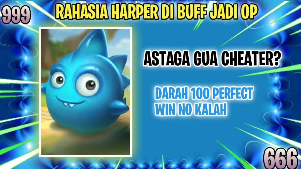 TRIK CURANG PAKE Commander HARPER 3 ! PERFECT WIN NO KALAH KAYA Pake CHEAT? - MAGIC CHESS INDONESIA