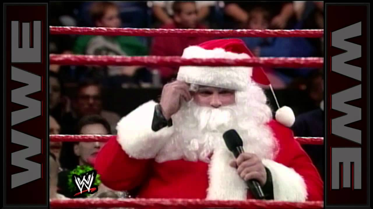 A Stone Cold Christmas.Stone Cold Drops Santa Claus With A Stunner On Raw