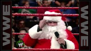 """""""Stone Cold"""" drops Santa Claus with a Stunner on Raw"""