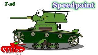 Speedpaint : Рисуем танк т 26