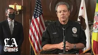 lapd-chief-moore-george-floyd-death-looters-hands-officers