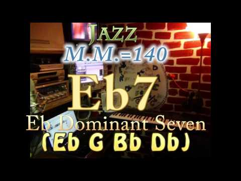Eb7 Dominant Seven (Eb G Bb Db) - Jazz - M.M.=140 - One Chord Backing Track