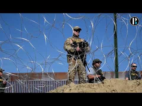 Migrantes presionan y buscan cruzar el muro con EE UU  a la fuerza