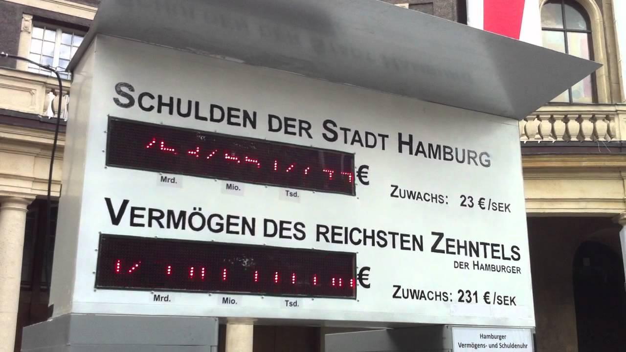 Der Stadt Hamburg schuldenuhr der stadt hamburg