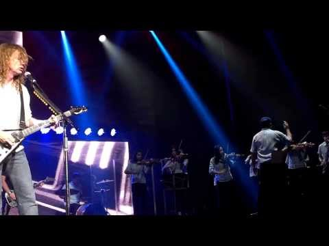 Megadeth and Recycled Orchestra Front Row HD Denver Colorado