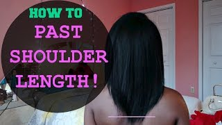 GROW RELAXED HAIR PAST SHOULDER LENGTH! | MY HAIR STORY | TIPS + PICS AND VIDEO CLIPS OF JOURNEY