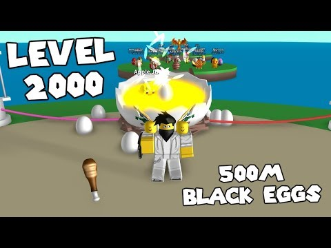 LEVEL 2,000 + 500 MILLION BLACK EGGS! - Egg Farm Simulator