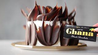 【時短版】温度計なしで簡単に板チョコをテンパリングする方法 見本のチョコケーキ付き|ビルソンローラーズ