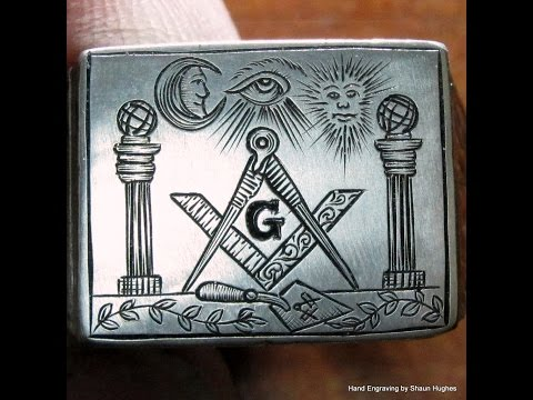 Hand Engraved Vintage Silver Masonic Ring by Shaun Hughes