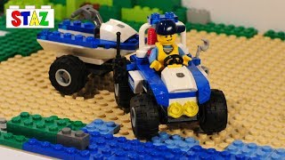 Police quad bike with jet ski - LEGO City 60086 Starter set