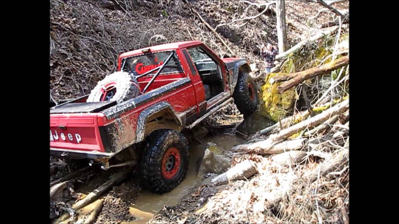 Jeep Rock Crawler Mj Comanche Jeep Truck Rock Crawling Youtube