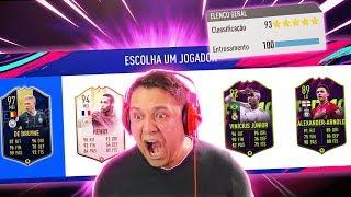 BUSQUEI O DRAFT 193 E FIZ HISTÓRIA!!! FIFA 19 FUT DRAFT!!
