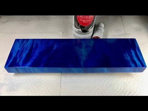 Blue Wood Dye - Deep Blue Dye Application Tutorial