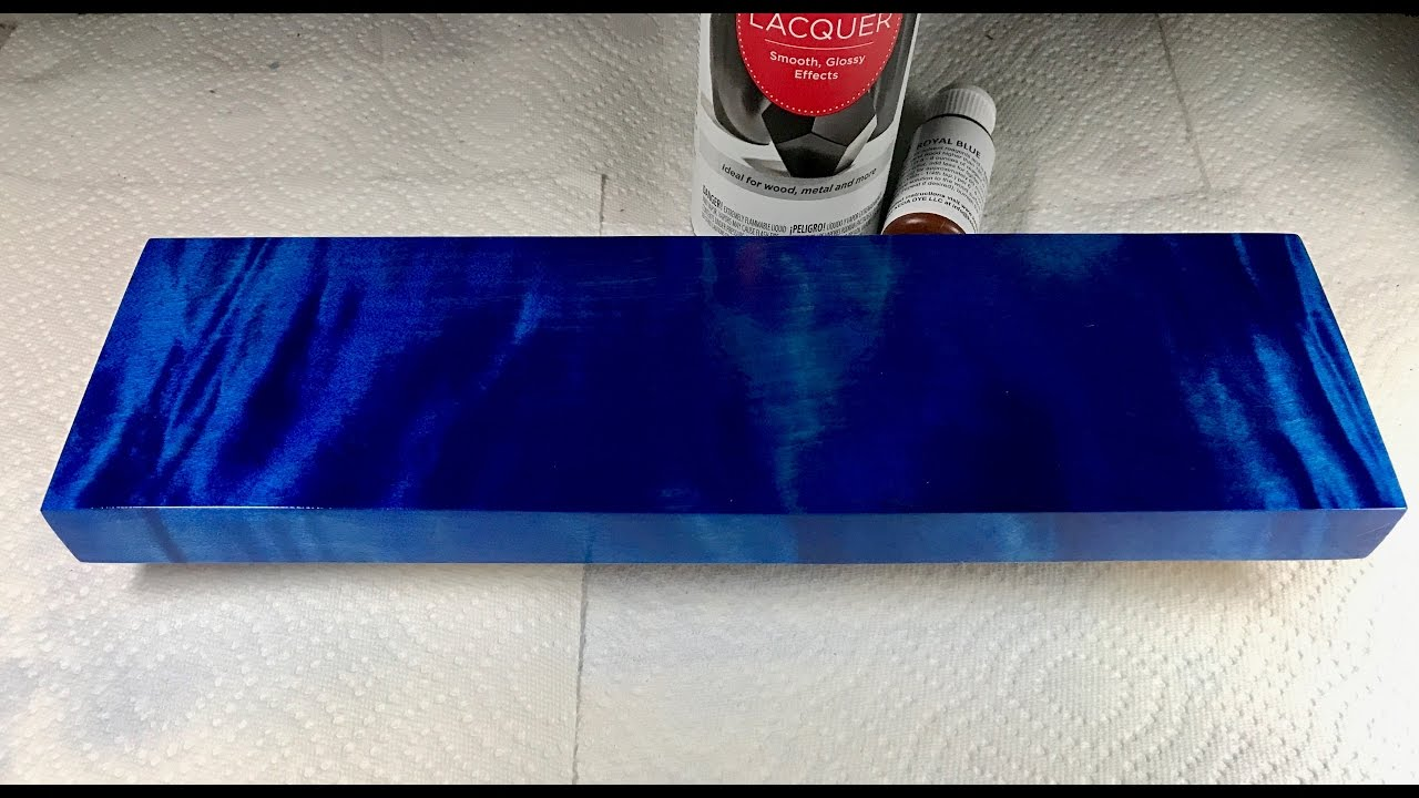 Blue Wood Dye Deep Blue Dye Application Tutorial Youtube