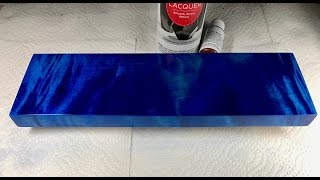 Blue Wood Dye - Deep Blue Dye Application Tutorial