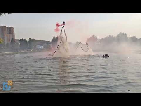 Флайбордисты летают на «Баранке» в Одинцово