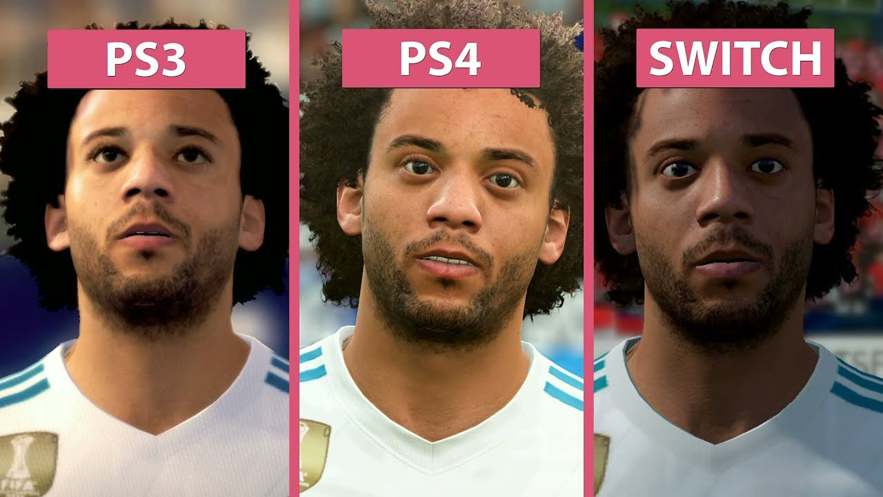FIFA 18 Nintendo Switch Vs PS3 Vs PS4 Graphics Comparison YouTube