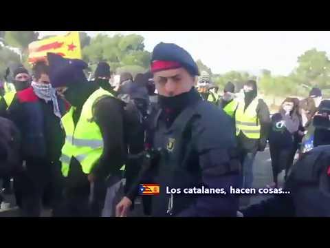 Conductores atrapados en la AP-7 se enfrentan a los CDR y piden que los Mossos reabran la autopista